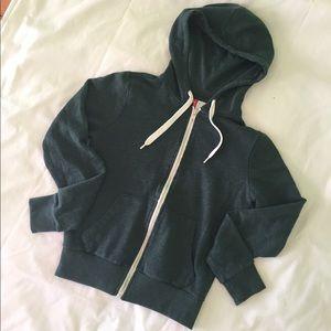 💙 H&M Teal Full Zip Hoodie Size 2